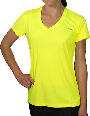 More Mile M-Tech Dry Girls Short Sleeve Running Top - Yellow