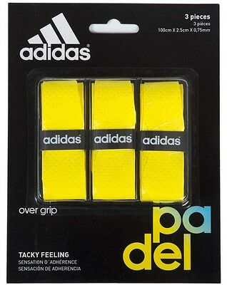 Adidas Padel Set Of Overgrip 3 Units Yellow Pádel