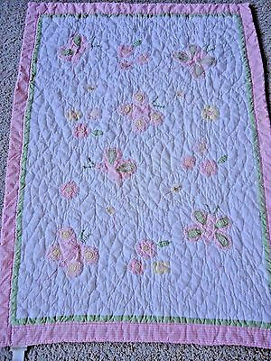 Pottery Barn Kids Toddler Bed Quilt Pink
