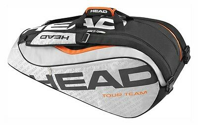 Head Tour Team Supercombi 9 Rackets Silver   Black Borse porta-racchette