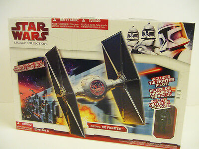 Star Wars Target Exclusive Legacy Collection Imperial TIE Fighter, MIB! Rare!
