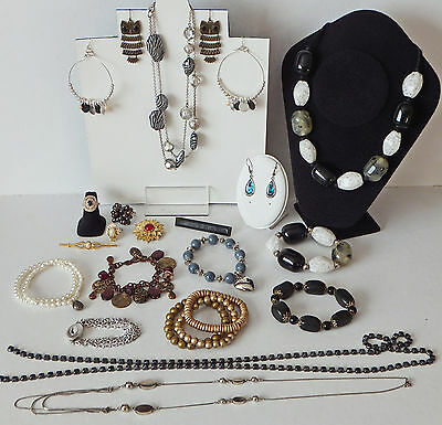 20 Items of Modern Costume Jewellery incl Prada Leather Bar Brooch