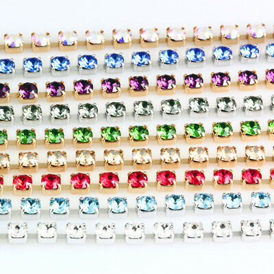 Genuine SWAROVSKI 27004 Round Cupchains with 1088 XIRIUS Chaton Crystals