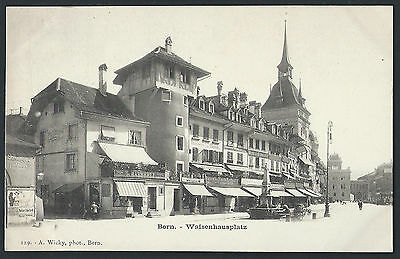 Switzerland Bern 1905 Weisenhaus place picture postcard