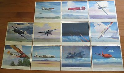 Set 11 Charles H. Hubbell Thompson Products Airplane Prints
