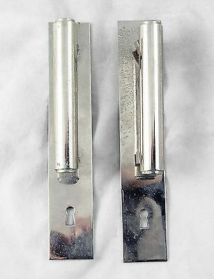 Pair Of 1930s French Nickel Cabinet Door Handles