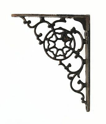 Pair of Vintage Black Iron Curled Brackets