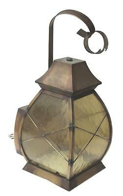 Brass Lantern Cover with Amber Glass