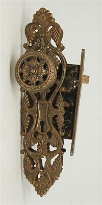 Highly Ornate Italian Renaissance Doorknob & Lock Set