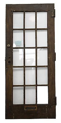 15 Cut Glass Panel Wood Door