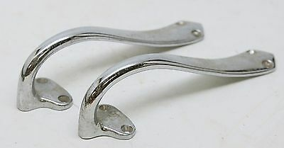 Pair Of Chrome Over Brass Pulls