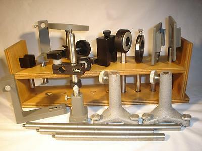 Lot Ealing Mounts Optical Bench Parts Science Lab W/ Rack