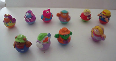 10 different WEEBLES FIGURES - TOYS     PLAYSKOOL?
