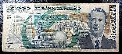 MEXICO: 1988, 10000 Pesos Banknote, Serie NM, P-90b ◢ FREE COMBINED S/H ◣