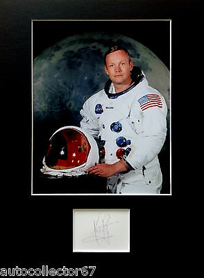 APOLLO 11 signed autograph DISPLAY Neil Armstrong Moon landing