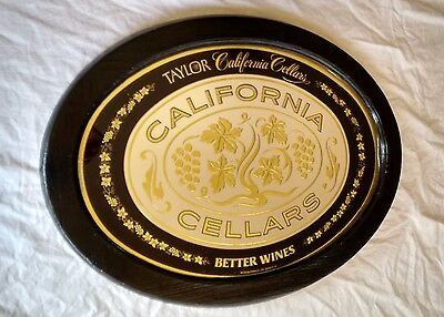 Taylor California Wine Cellars Mirror Oval Vintage Bar Mirror