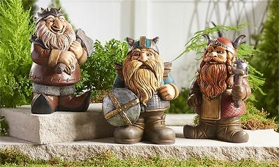 VIKING FIGURINE Medieval Garden Design Ornament ONCE UPON A TIME style 3 only