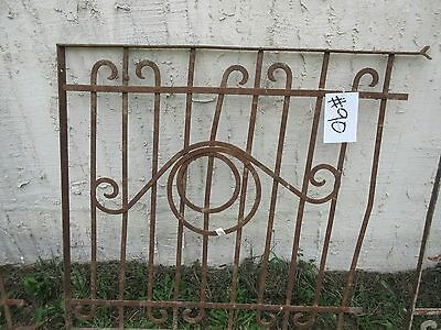 Antique Victorian Iron Gate Window Garden Fence Architectural Salvage Door #90