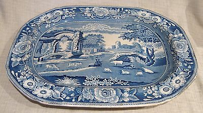 "Early 19th Century Stubbs Staffordshire 18 1/2"" Platter with Well"