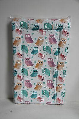 Baby Changing Mats Coloured Owls Spotty Mat Padded Deluxe (Fully Wrapped) New