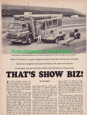1970 TV Tommy Ivo - Dodge D-600 + Corvette + Top Fuel Dragsters + Bill Stiles SS