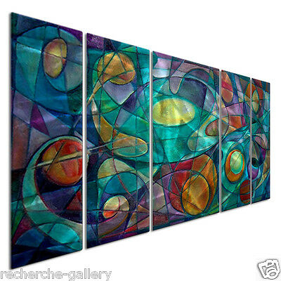 Abstract Painting on Metal Wall Art Prismatic Prelude II by Artist Ash Carl