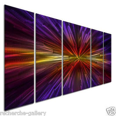 Abstract Painting on Metal Wall Art Sculpture Inception II by Ash Carl