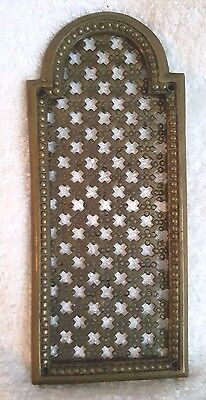 Vintage Brass Door Plate Salvage Architectural Decoration