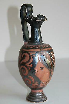 QUALITY ANCIENT GREEK RED FIGURE  POTTERY ONIOCHOE 4th CENTURY BC WINE JUG