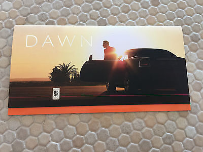 Rolls Royce Dawn Promotional Mailer Sales Brochure 2016 Usa Edition