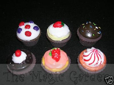 6 shabby faux mini cupcakes plaster soap  latex molds moulds