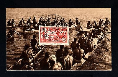 13347-COTE D´IVOIRE-OLD POSTCARD ABIDJAN.1947.WWII.FRENCH Colonies.Carte postale
