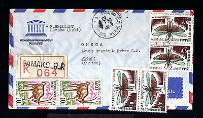 12816-COTE D´IVOIRE-AIRMAIL REGISTERED COVER BAMAKO to SWITZERLAND.1968.FRENCH