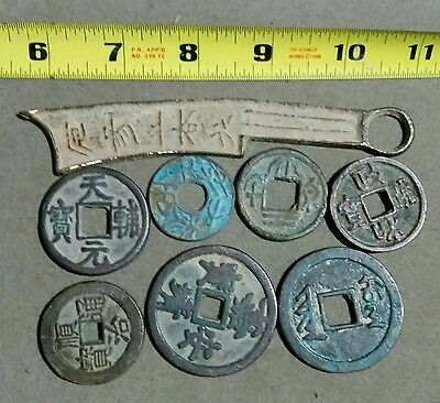 Lot ot 8 Unidentified Ancient Chinese Coins
