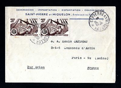 13385-ST.PIERRE MIQUELON-AIRMAIL COVER ST.PIERRE to FRANCE.1958.FRENCH Colonies