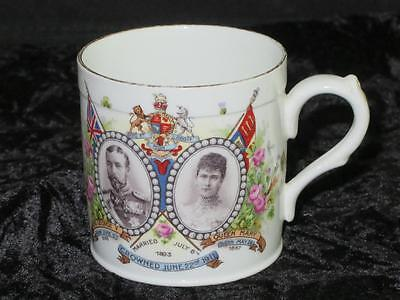 Commemorative Coronation Mug King George V Queen Mary June 1911 STRETFORD COUNCL
