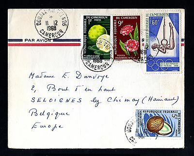 13643-CAMEROON-AIRMAIL COVER DOUALA to SELOIGNES (belgium)1968.CAMEROUN.French