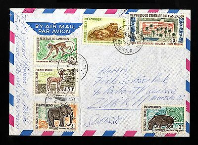 13612-CAMEROON-AIRMAIL COVER DOUALA to ZURICH (suisse)1965.CAMEROUN.French