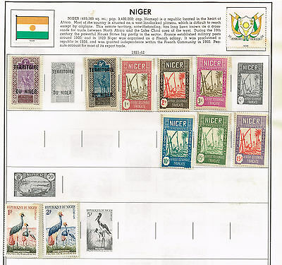 59 Niger 1921-1986  stamps