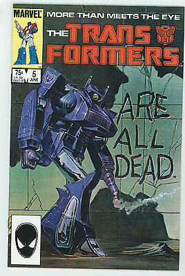 Transformers #5 9.4 White Pages 1985