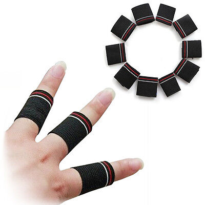 10pcs Finger Protector Guard Support Stretchy Sports Basketball Aid Band Set