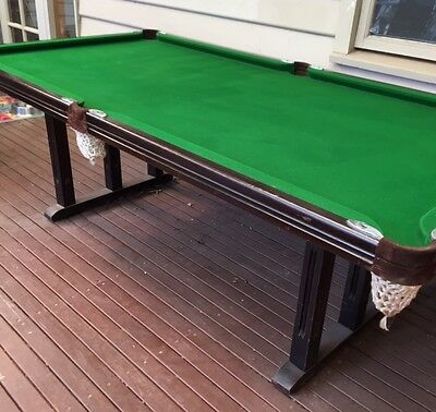 Prestige Billiards Slate Based Billiard Table with Dining Table Top and access.