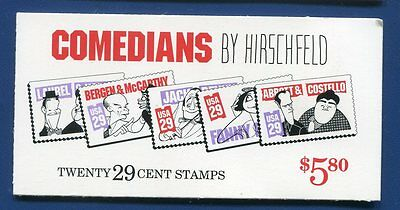 Scott BK191 Comedians se-tenant booklet 20 MNH FREE SHIP