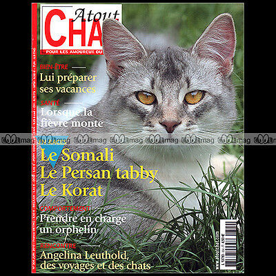 ATOUT CHAT N°304-b ★ RACES SOMALI, KORAT, PERSAN TABBY ★ ANGELINA LEUTHOLD-SOURE