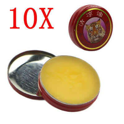 Red White 10pcs Muscle Tiger Balm Pain Relief Ointment Massage Rub Aches