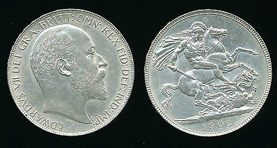 1902 Edward VII - Silver CROWN....High Grade...Fast Post