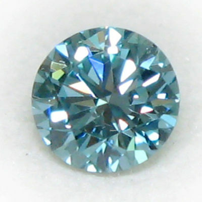 fiery real 2.00 ct 8.20 mm Fency Blue loose moissanite round brilliant cut nr