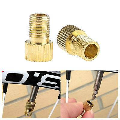 2 X Presta To Schrader Valve Adapter Converter Road Bike Cycle Bicycle Pump Tube