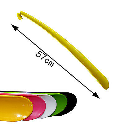 Plastic Shoe Horn 57cm Extra Long Remover Aid Flexible Mobility Disability Stick