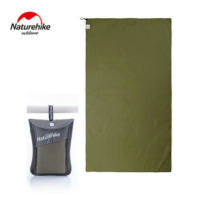 Army Green Outdoor Travel Camp Microfiber Quick-Dry Towel Shower Beach 80*40cm